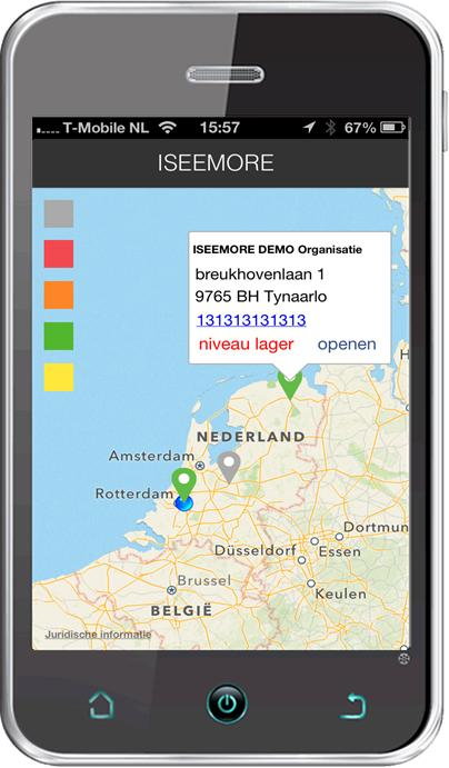 iPhone applicatie kaart